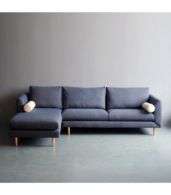 Bleu L Shaped Sofa Mountain Teak