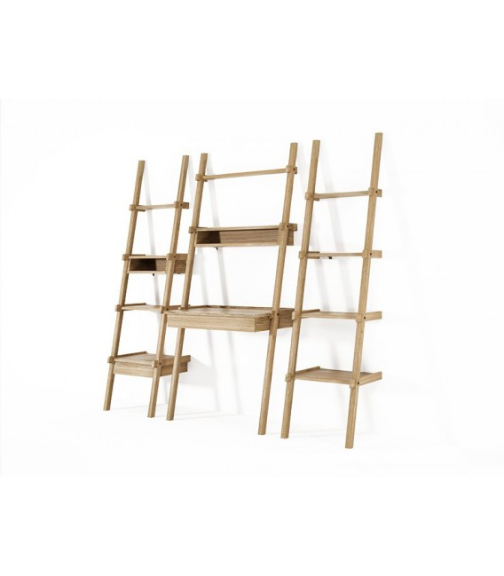 SimplyCity Ladder Shelves w/ Drawer and Niche