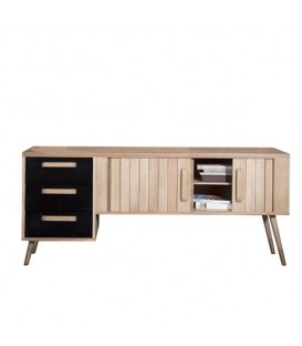 Origami TV Chest with 2 sliding doors and 3 drawers