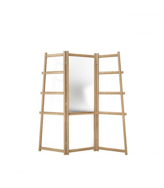 SimplyCity Towel Hanger with Mirror and Shelf