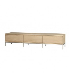 White Lofty 2-flip-door 1-drawer TV Cabinet