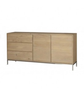 White Lofty 2-door 3-drawer Sideboard