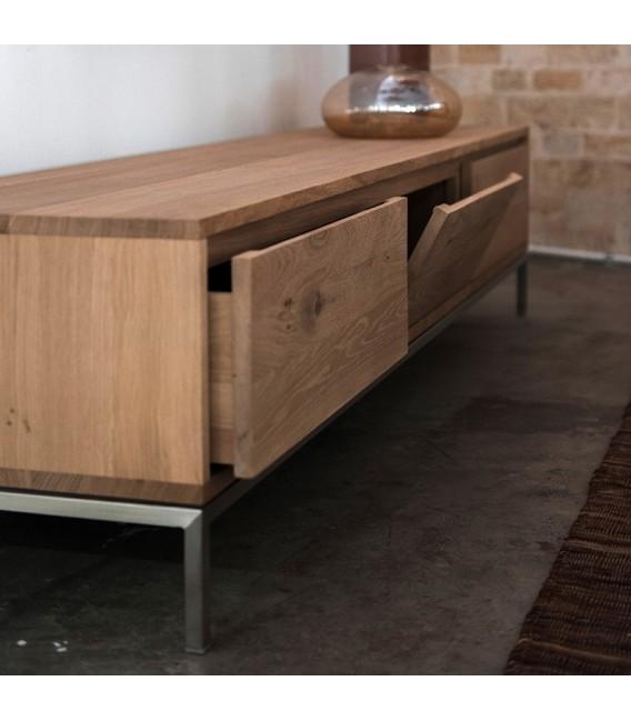 White Lofty 2-flip-door 1-drawer TV Cabinet