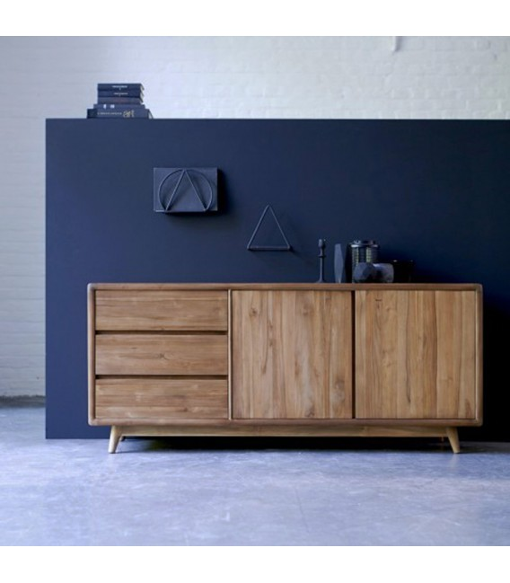 Vintage 3-Drawer 2-Door Sideboard