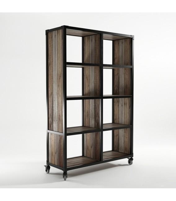 Atelier K工坊系列八格滑輪儲物高櫃 - 黑色