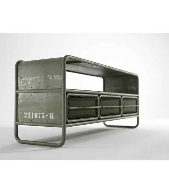Deserter 3-Drawer Media Cabinet