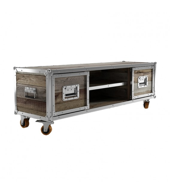Roadie TV Chest w/ 2 Compartments & 2 Drawers