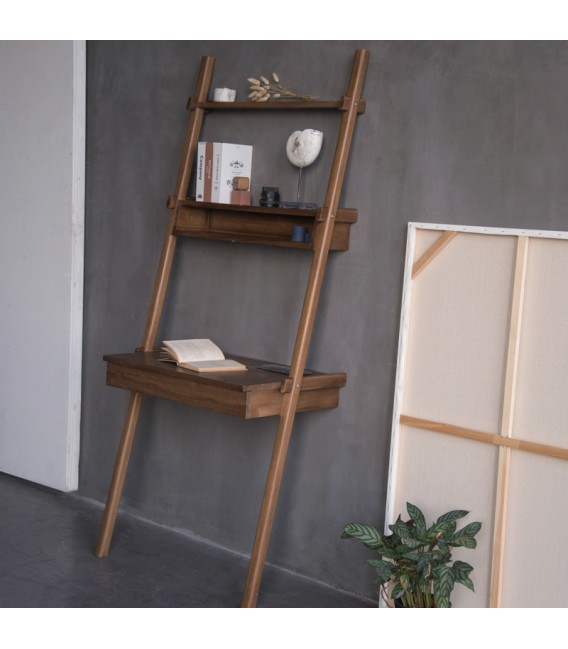 SimplyCity Ladder Desk w/ Drawer and Niche